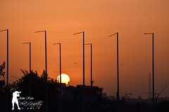 Sunset View from Qatar Islamic Culture Park, Doha (jetho_keto) Tags: