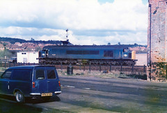 45016 Worcester Depot May 1985 (Wolfie2man) Tags: peaks 85a brblue class45 45016 worcesterdepot