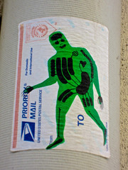 Koleo, Paris, France (Robby Virus) Tags: street city paris france art french sticker europe european mail slap usps priority parisian francais cityoflights koleo