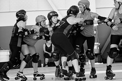 oak_vs_resist_L1060178 1 (nocklebeast) Tags: ca usa rollerderby rollergirls richmond skates bayareaderbygirls badg oaklandoutlaws richmondwreckingbelles va0001991072 effectivedateofregistrationaugust152015 va1991072