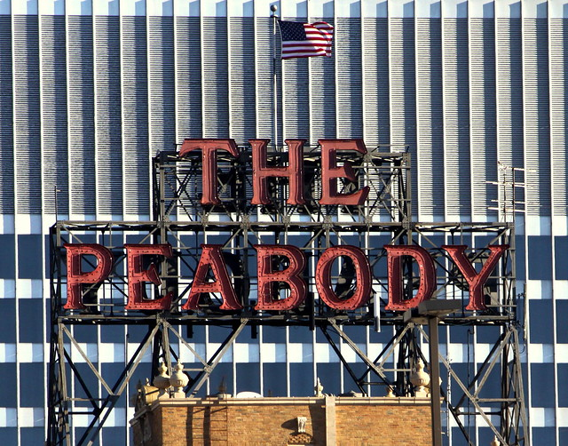 The Peabody Hotel neon sign