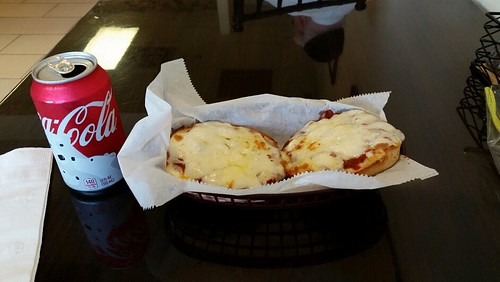 Pizza bagels for lunch