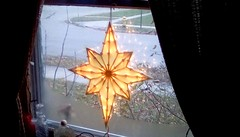 Christmas window star. - HWW! (Maenette1) Tags: christmas window star decoration menominee uppermichigan happywindowswednesday flicker365