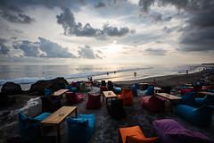 Beach Chairs in Bali (pictcorrect) Tags: bali island echo beach canggu surfers surfing sunset wide angle