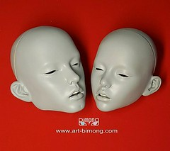 Narin 65cm & Narae 58cm kiss couple head (bimong11) Tags: narin 65cm narae 58cm head new joint body detail putty work art bimongbjd doll boy girl slim muscles line wip vampire tooth faceplate couple lover lips sculpture surface kiss romantic lovely adorable