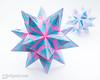New Zebra Star (Maria Sinayskaya) Tags: 10010 15cmdoublesided 3dorigamistar daiyoshiko folded kamipaperduocolorcolor kusudama mariasinayskaya modularorigami origami origamispikes origamistar square мариясинайская