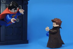 Quick Change (MrKjito) Tags: lego minifig crossover dc comics doctor who 10th david tennatn tardis change police box clark kent
