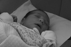 Sofia (frogghyyy) Tags: baby cousin newborn sleepy sleep blackwhite bw biancoenero cute infant love portrait