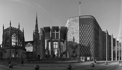 Coventry's Cathedrals old and new (lunaryuna) Tags: panorama stitchedpanorama coventry england cathedrals stmichaelscathedral wwii remembrance cathedralsoldandnew lunaryuna