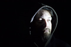 Darren (AprilMayhemPhotos) Tags: shadow shadows black white blackandwhite hardlight portrait biker