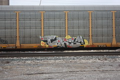 02-16-13 (94) (This Guy...) Tags: graf graff graffiti train car traincar box boxcar freight freightcar rail road railroad rr 2013 boob boobs boobie boobies tit tits titty tittie titties nude booty land landscape transportation america usa tars