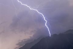 Lightning Strikes near Le Brévent (Stewart Miller Photography) Tags: lightning brevent station chamonix summer storm