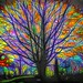 Digital Stained Glass Tree