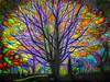Digital Stained Glass Tree (Rusty Russ) Tags: tree end universe graveyard color mosaic stained glass sunset vibrance colorful day streetart digital graffiti europe mer lago window flickr country landschaft mare analog bright happy la paysage colour eos scenic america cielo market hill world beach water sky flower red nature blue night white green art light sun cloud park landscape summer city yellow people pink house old new photoshop google