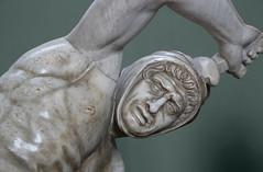 The Persian Warrior - Vatican Museums Rome (Lark Ascending) Tags: hammer man totso muscular muscles hood hit mallett statue sculpture vatican museum gallery marble face persian warrior phrygian