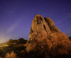 Rockin to the stars (Eve Photography By JC Clemens) Tags: star lanscape rock car lights jodhua tree landmark clouds clear skies california national park nikon tamron 2470mm long exposer