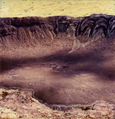 Meteor Crater (tobysx70) Tags: polaroid sx70 sonar emulsion manipulation time zero tz instant film meteor crater coconino county arizona az canyon diablo nickel iron meteorite barringer national natural landmark route 66 rt rte toby hancock photography
