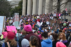 Thousands on the Steps (railsnroots) Tags: demonstrations first amendment womens march protest signs