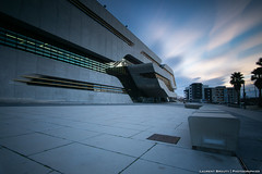 PierresVives I (laurent.brouty) Tags: sunset urban cityscape urbancityscape architecture montpellier sony a6000 12mm samyang longexposure leefilter bigstopper bluehour sky cloud building library archive