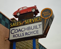 rolls royce sign (brown_theo) Tags: rolls royce rollsroyce neon coachbuilt coach built columbus ohio hudson street sales service