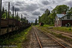 Gyttorp station (JHNSSN) Tags: railroad summer sweden nora sverige railroads sommar biketrail jrnvg gyttorp rurex cykelled cykeltrekking