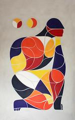 JE PENSE. Ceramic mural by Remed