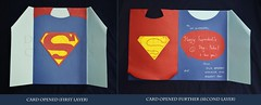 Superdad card - inside layers (Black Phoenix2011) Tags: blue red dad day superman card superhero cape layers fathers superdad
