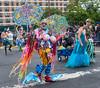 Coney Island Mermaid Parade (UrbanphotoZ) Tags: nyc newyorkcity flowers blue woman fish ny newyork man hat brooklyn coneyisland costume colorful dress stripes hulahoops hats tights shades plastic spots topless mermaids sailor streamers mermaidparade facepaint umbrellas netting fakeboobs sequin tule paperstrips