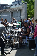 Drummer on the streets of Manchester (emiliaagracee) Tags: people music manchester drums crowd band sound instrument drummer bang loud manchestermusic