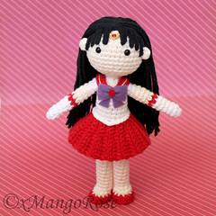 Sailor Mars Crochet Doll Pattern (xMangoRose) Tags: mars moon anime toy doll pretty pattern venus mask princess crystal mercury cosplay crochet scout plush tuxedo chiba sailor jupiter amigurumi rei sailormoon guardian usagi mamoru senshi