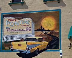Pontiac on Route 66 Mural in Pontiac, Illinois (eoscatchlight) Tags: illinois route66 pontiac roadsideamerica mainstreetusa themotherroad pontiacmural