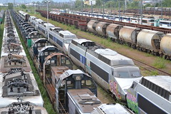 SNCF TGV Power Cars (Will Swain) Tags: travel france yard train de french europe north transport july rail railway des 330 east le works depot 12th railways franais socit parisian locomotives fer withdrawn nationale marshalling 2015 triage chemins sottevillelsrouen