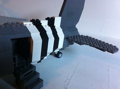 Can anyone guess what it is?? (tyfighter07) Tags: plane lego stripes wwii wip invasion brickbuilder7
