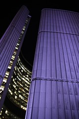 (DhkZ) Tags: toronto ontario canada architecture night zeiss purple cityhall contax distagont1435 canoneos5d2 contaxzeiss35mmf14