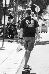 The 4th in Aspen (Culinary Fool) Tags: bw usa man colorado july stranger parade skateboard fourthofjuly aspen 4thofjuly independenceday colorada 2015 culinaryfool 18135 brendajpederson