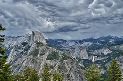 Half Dome - Yosemite National Park (hectro805) Tags: california nature clouds waterfall scenic yosemite halfdome yosemitenationalpark glacierpoint nikond5100