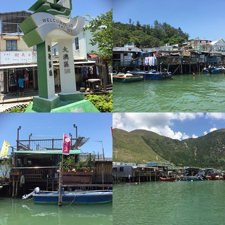 Fabulous weather again today perfect for a trip out to #Tai_O #Hong_Kong #Lantau #travel #adventures #sightseeing #monuments #sea #villages