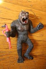 King Kong Rubber Jiggler (AHI 1973) (Donald Deveau) Tags: monster toys rubber ape kingkong ahi faywray vintagetoy jiggler