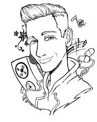 Raoul Vázquez (ReneInk) Tags: raoul vázquez draw music anime musical notes artbook la voz raoulvazquez tattoo