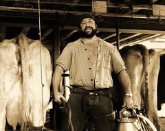 milking gear (Marsum) Tags: milker melker melken swissfarmhand melkerbluse melkeimer cowstable kuhstall ländlich traire paysan stocky sturdy rugged rural brawny bearded landleben bauer schweizerbauer