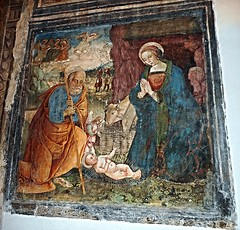"""""""The Holy Family"""" fresco by unknown painter (beginning 16th century) - Donnaregina Vecchia Church-Museum in Naples (Carlo Raso) Tags: holyfamily fresco naples italy"""