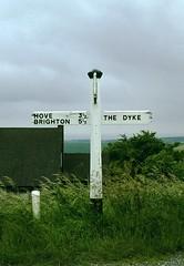Road sign at Devil's Dyke Farm (jc_snapper) Tags: sign eastsussex devilsdyke roadsign signpost hove