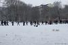 Rush Hour (Sockenhummel) Tags: volksparkwilmersdorf fusgänger spaziergänger wanderer volkspark winter schnee snow führung rushhour berufsverkehr berlin wilmersdorf spaziergang fuji x30 fujifilm finepix fujix30