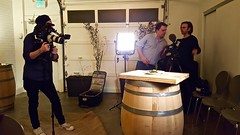 TV crews shooting food documentary (Lost in Flickrama) Tags: eatfeastlycom food seafood dish plates camera video documentary film shooting cameramen tv