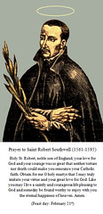 Prayer to St. Robert Southwell (CathSaintsBlesseds) Tags: robert southwell england english catholic martyr saint st blessed bl persecution christian jesuit priest poet poets patron covert operations secret agents