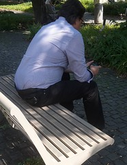 Hidden Camera - PokéMAN 01 (TBTAOTW2011) Tags: hidden camera candid man businessman shirt pants black leather dress shoes shoe sole soles mature glasses sitting feet foot walking