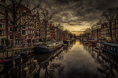 Amsterdam Canal (mcalma68) Tags: amsterdam cityscape canals brouwersgracht sunset architecture
