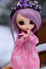 Debbie in snow (Pullip Romantic Alice) (kyuo) Tags: pullip pink romantic alice portrait winter nature flowers doll japanese cute sweet