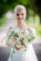 Bride with Flowers (Morten Falch Sortland) Tags: getty photomortenfalchsortland stock stockphotography gettyimages allrightsreserved wedding ceremony love relationship everlasting whitebride party whitewedding peoplecountriesdömledömleherrgårdeventsforshagakarianneevenphotomortenfalchsortlandphotographerseasonssummerswedenthingstimevärmlandwedding
