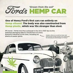 Henry's Hemp-mobile (kevin63) Tags: lightner photo car ford hemp plastic 40s advertisement